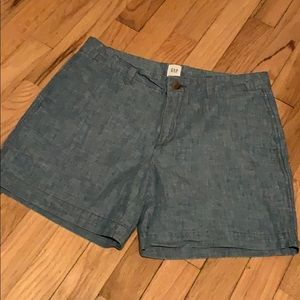 Gap Chambray City Shorts size 4